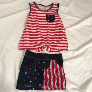 Girl's Way To Celebrate Patriotic Short Set